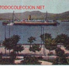 Postales: 7-BARCO90. POSTAL VIGO SALIDA DE UN TRANSATLANTICO. Lote 2396524