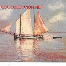 Postales: 7-BARCO66. POSTAL BARCO PESCA A VELA. Lote 2468162