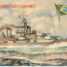 Postales: TARJETA POSTAL DE MARINA DE GUERRA BRASIL ACORAZADO 'MINAS GERAES'.. Lote 2965602