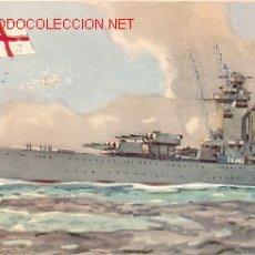 Postales: TARJETA POSTAL DE MARINA DE GUERRA INGLATERRA Nº1.-ACORAZADO 'NELSON'.-. Lote 2965616