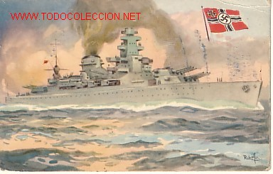 TARJETA POSTAL DE MARINA DE GUERRA DE ALEMANIA Nº6.-ACORAZADO 'SCHARNORST'.- (Postales - Postales Temáticas - Barcos)