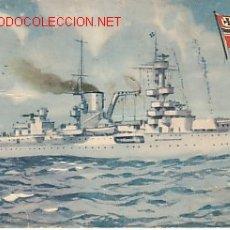 Postales: TARJETA POSTAL DE MARINA DE GUERRA ALEMANIA Nº13.-CRUCERO 'LEIPZIG'.-. Lote 22365805