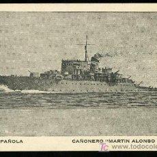 Postales: TARJETA POSTAL DEL BARCO CAÑONERO MARTIN ALONSO PINZON. ARMADA ESPAÑOLA. Lote 19325422