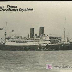 Postales: TARJETA POSTAL DE BARCO.COMPAÑIA TRASATLANTICA ESPAÑOLA J. SEBASTIAN ELCANO. Lote 13456168