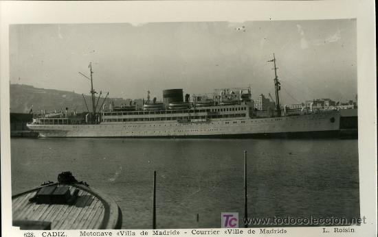 TARJETA POSTAL DE BARCO.VILLA DE MADRID L. ROISIN (Postales - Postales Temáticas - Barcos)
