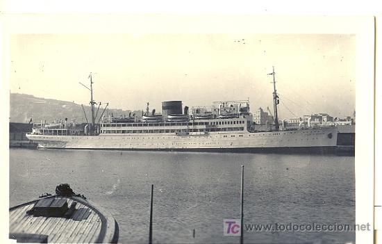 TARJETA POSTAL DEL BARCO VILLA DE MADRID . L. ROISIN (Postales - Postales Temáticas - Barcos)