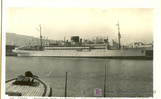 TARJETA POSTAL DEL BARCO VILLA DE MADRID L. ROISIN (Postales - Postales Temáticas - Barcos)
