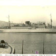 Postales: TARJETA POSTAL DEL BARCO VILLA DE MADRID L. ROISIN. Lote 19325416