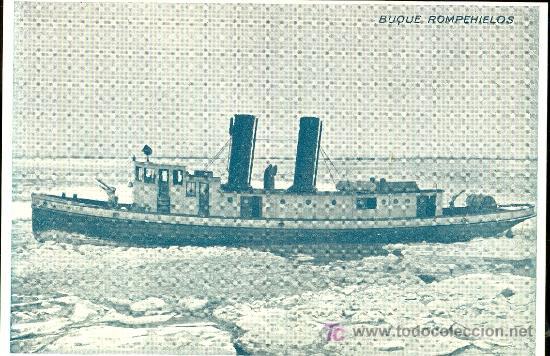 TARJETA POSTAL DE BARCO. BUQUE ROMPEHIELOS (Postales - Postales Temáticas - Barcos)