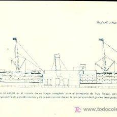 Postales: TARJETA POSTAL DE BARCO. BUQUE FRUTERO. Lote 19325428