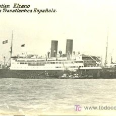 Postales: TARJETA POSTAL DE BARCO.COMPAÑIA TRASATLANTICA ESPAÑOLA. J. SEBASTIAN ELCANO. Lote 13974473