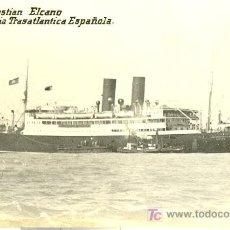 Postales: TARJETA POSTAL DE BARCO.COMPAÑIA TRASATLANTICA ESPAÑOLA. J. SEBASTIAN ELCANO. Lote 9871468