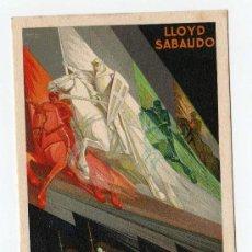 Postales: LLOYD SABAUDO , LOS GLORIOSOS CONDES , SERVICIOS RAPIDOS DE LUJO MEDITERRANEO, NORTE Y SUD AMERICA. Lote 10330000