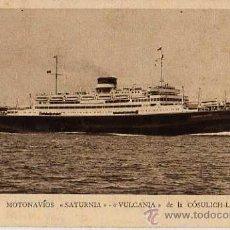 Postales: MOTONAVIOS SATURNIA VULCANIA DE LA COSULICH-LINE. Lote 10446873