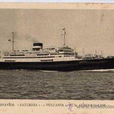 Postales: MOTONAVIOS SATURNIA VULCANIA DE LA COSULICH-LINE. Lote 10446892
