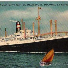Postales: AMERICAN EXPORT LINES NEW 4 ACES - SS EXCAMBION. Lote 10447200