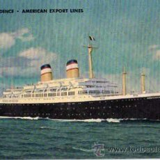 Postales: SS INDEPENDENCE - AMERICAN EXPORT LINES. Lote 10447248