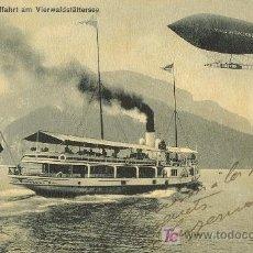 Postales: TARJETA POSTAL DE LUFTSCHIFFAHRT AM VIERWALDTATTERSEE. Lote 13974482