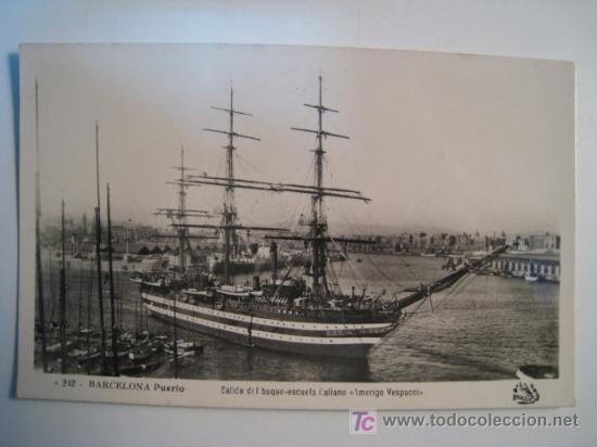 POSTAL BARCOS AMERIGO VESPUCCI (BUQUE ESCUELA) (Postales - Postales Temáticas - Barcos)