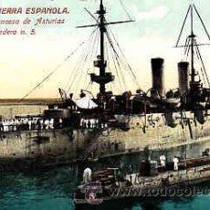 Postales: POSTAL MARINA DE GUERRA ESPAÑOLA Nº 17 CRUCERO PRINCESA DE ASTURIAS Y TORPEDERO Nº 5. Lote 10923667