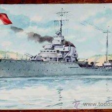 Postales: ANTIGUA POSTAL DEL BARCO DESTROYER V. GIOBERTI - DE LA MARINA DE GUERRA ITALIANA - NO CIRCULADA - CO. Lote 11698691