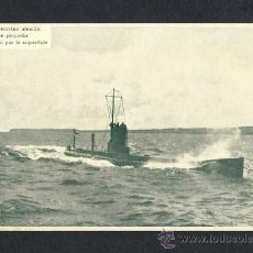 Postales: POSTAL DE BARCOS: UN SUBMARINO ALEMAN (POSTAL MARITIMA PATRIOTICA NUM.57768). Lote 11857919