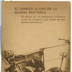 Postales: TARJETA POSTAL DE EL CORREO ALADO DE LA MARINA BRITANICA. Lote 13008665