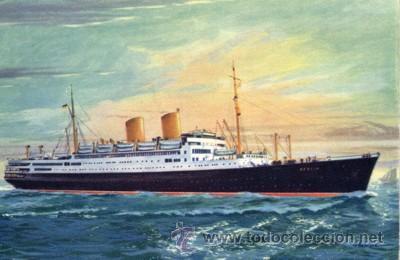 Nº 4535 POSTAL BARCO NORDDEUTSCHER LLOYD BREMEN MS BERLIN (Postales - Postales Temáticas - Barcos)