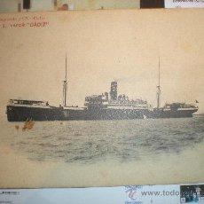 Postales: POSTAL Nº 2 VAPOR CADIZ - AÑO 1913. Lote 23433358