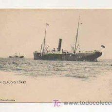 Postales: VAPOR CLAUDIO LÓPEZ. COMPAÑIA TRASATLANTICA. . Lote 13478111