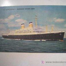 Postales: POSTAL BARCO SS CONSTITUCION (AMERICAN EXPORT LINES). Lote 13748179