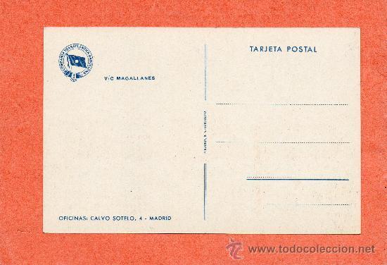 Postales: COMPAÑIA TRASÁTLANTICA BARCELONA. MAGALLANES. ANTONIO LÓPEZ. BUQUE VAPOR. BARCO. NAVIERA - Foto 2 - 45390700