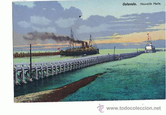 BARCOS, OSTENDE (Postales - Postales Temáticas - Barcos)