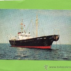 Postales: PETER FABER. THE CABLE SHIP OF THE DANISH POST AND TELEGRAPH OFFICE. BUQUE. BARCO. NAVIERA. Lote 27138943