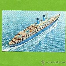 Postales: LAURO LINES. ACHILLE LAURO 25000 TONS. GENOVA. ITALIA. SIN CIRCULAR.. Lote 26635438
