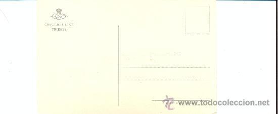 Postales: POST 174 - POSTAL NO CIRCULADA: M/S SATURNIA - RIZZOLI E C - MILANO - COSULICH LINE TRIESTE - Foto 3 - 27365072
