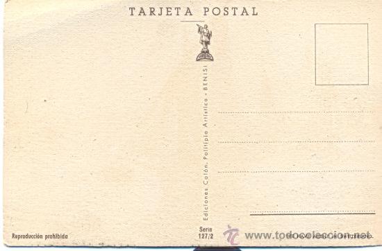 Postales: POST 177 - POSTAL NO CIRCULADA: VELEROS EN EL MAR - WOLFN - SERIE 127/2 - COLÓN - BENISI - Foto 3 - 25982634