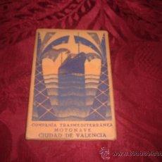 Postales: SOBRE 12 POSTALES COMPAÑIA TRASMEDITERRANEA MOTONAVE CIUDAD DE VALENCIA. Lote 15421779