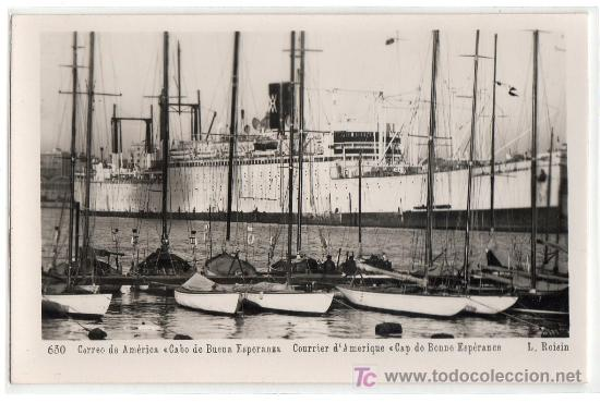 TARJETA POSTAL DEL CORREO DE AMERICA CABO DE BUENA ESPERANZA Nº 630. FOTO L. ROISIN (Postales - Postales Temáticas - Barcos)