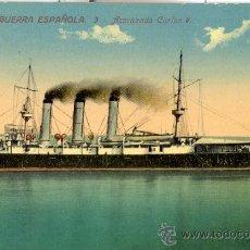 Postales: ACORAZADO CARLOS V. MARINA DE GUERRA ESPAÑOLA. POSTAL COLOR, SIN CIRCULAR, C. 1915. . Lote 27467204