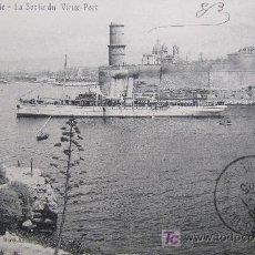Postales: BARCOS DE PASAJE. LA SORTI DU VIEUX-PORT. CIRCULADA. AÑOS 20. Lote 16883029