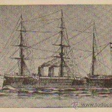 Postales: CRUCERO CASTILLA.HUNDIDO POR EL FUEGO ENEMIGO EN EL COMBATE NAVAL DE CAVITE EL 1 DE MAYO DE 1898.. Lote 17036534