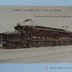 Postales: TARJETA POSTAL PUBLICITARIA: CAMINOS DE HIERRO . Lote 17993282