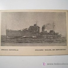 Postales: POSTAL BARCO: CRUCERO MIGUEL CERVANTES - ARMADA ESPAÑOLA. Lote 229003215