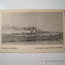 Postales: POSTAL BARCO: CRUCERO ALMIRANTE CERVERA - ARMADA ESPAÑOLA. Lote 18813867