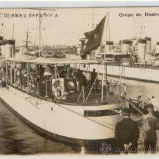 Postales: (PS-16432)POSTAL FOTOGRAFICA DE LA MARINA DE GUERRA ESPAÑOLA-GRUPO DE DESTROYERS. Lote 18892575