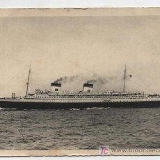 Postales: REX. TRANSATLANTICO ITALIANO. FRANQUEADO Y FECHADO EN PUENTE MAYOR EN 1937 CON SELLOS PROVIN-. Lote 18972505