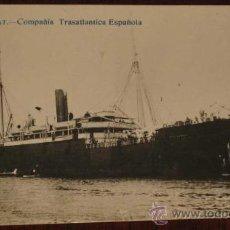 Postales: ANTIGUA FOTO POSTAL DE BARCO MONTSERRAT - COMPAÑIA TRASATLANTICA ESPAÑOLA - NO CIRCULADA - ED. EXPOS. Lote 19281057