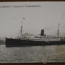 Postales: ANTIGUA FOTO POSTAL DE BARCO INFANTA ISABEL - COMPAÑIA TRASATLANTICA ESPAÑOLA - NO CIRCULADA - ED. G. Lote 19281553