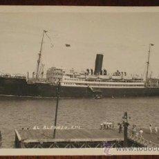 Postales: ANTIGUA FOTO POSTAL DEL BARCO ALFONSO XIII - NO CIRCULADA.. Lote 19302784